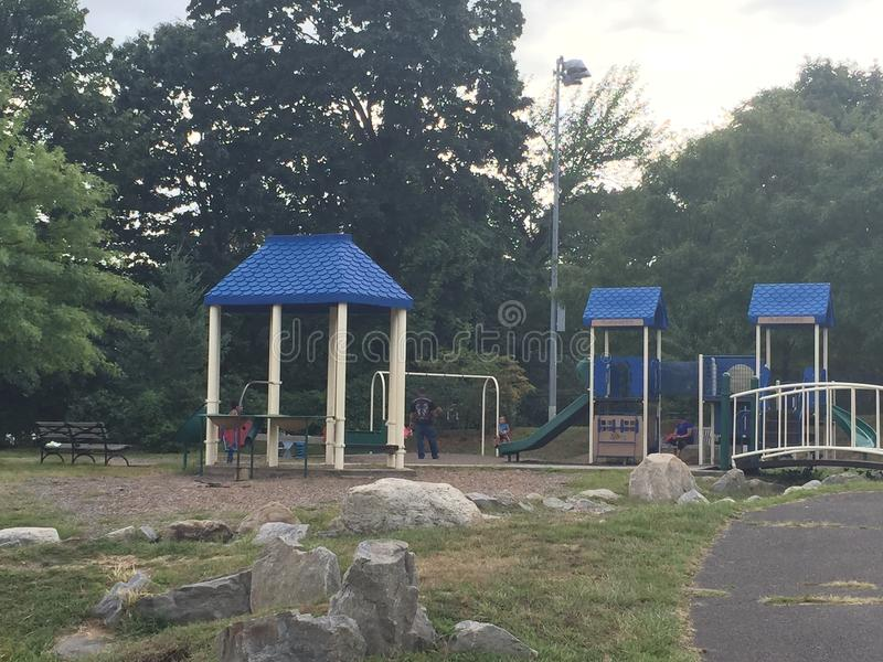 Devon' место s на парке Mathews в Norwalk, Коннектикуте стоковое фото rf