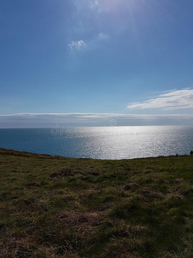 Devon seas. Devon blue seas royalty free stock photo
