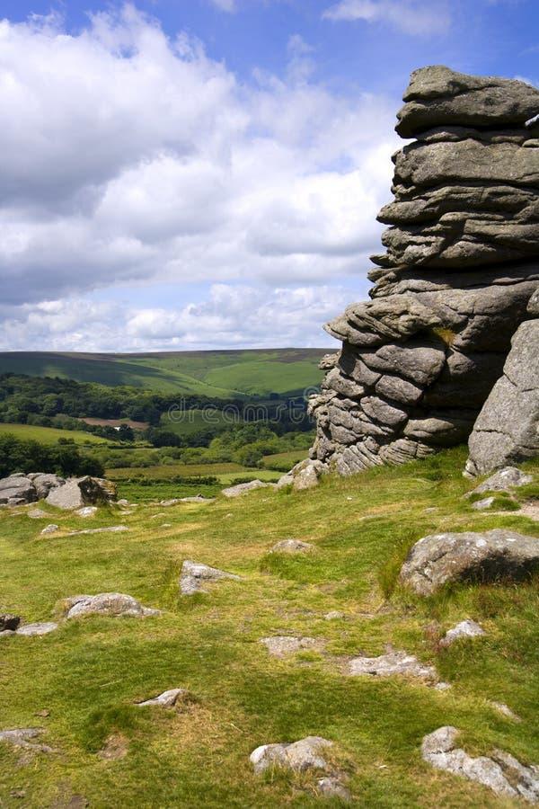 Devon cênico - Dartmoor imagens de stock
