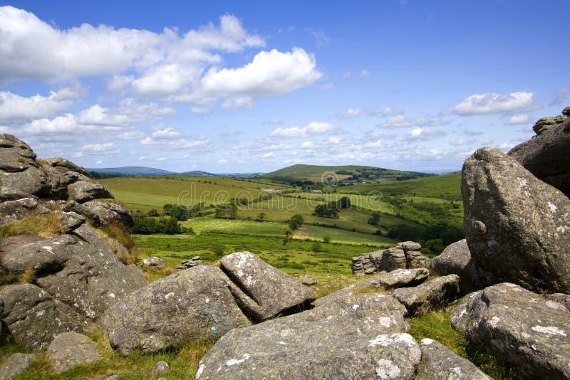 Devon escénico - Dartmoor fotografía de archivo libre de regalías