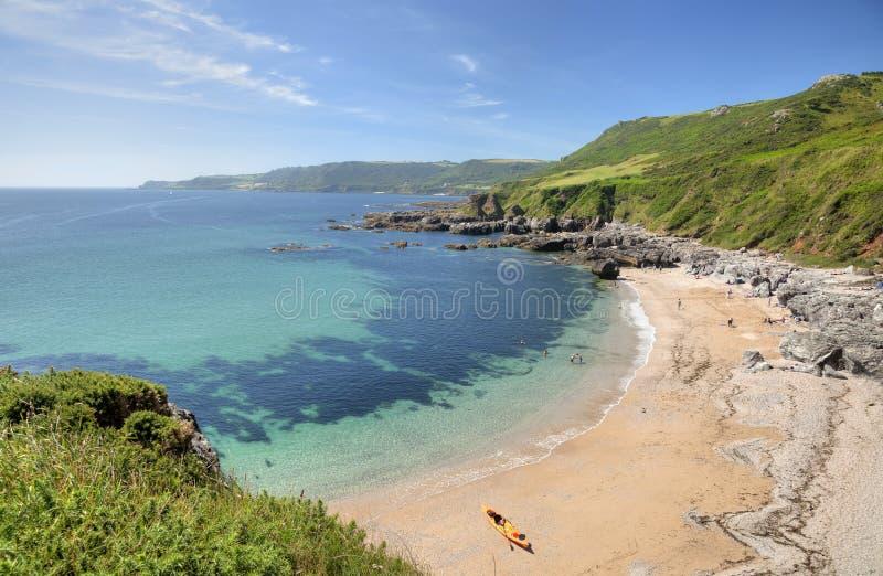 Devon-Küstenlinie lizenzfreie stockfotos