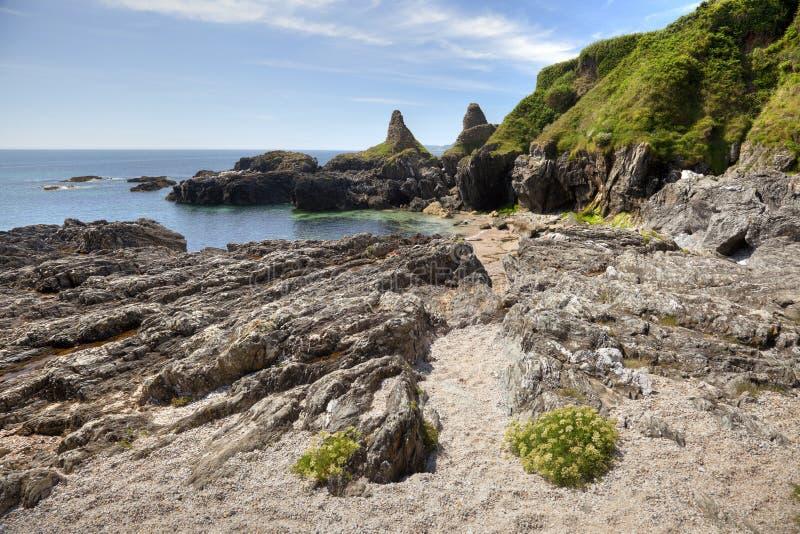 Devon-Küstenlinie im Sommer lizenzfreies stockfoto