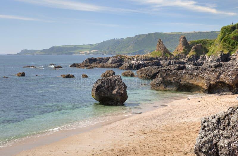 Devon-Küstenlinie im Sommer lizenzfreies stockbild