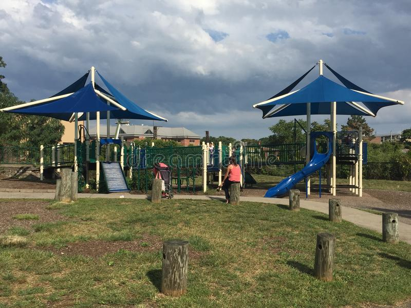 Devon' lugar de s en Mathews Park en Norwalk, Connecticut imagen de archivo libre de regalías