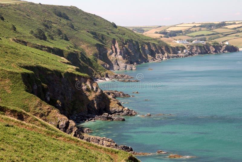 Devon Rocky Coast fotografia stock