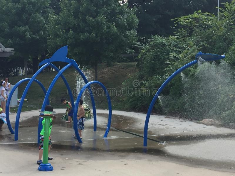 Devon' s Plaats in Mathews Park in Norwalk, Connecticut stock fotografie