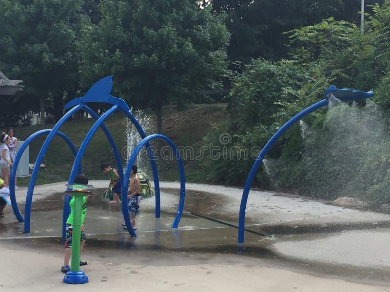 Devon' s-Platz bei Mathews Park in Norwalk, Connecticut stockfotografie