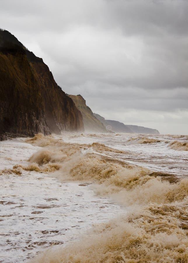 Devon storm arkivfoton