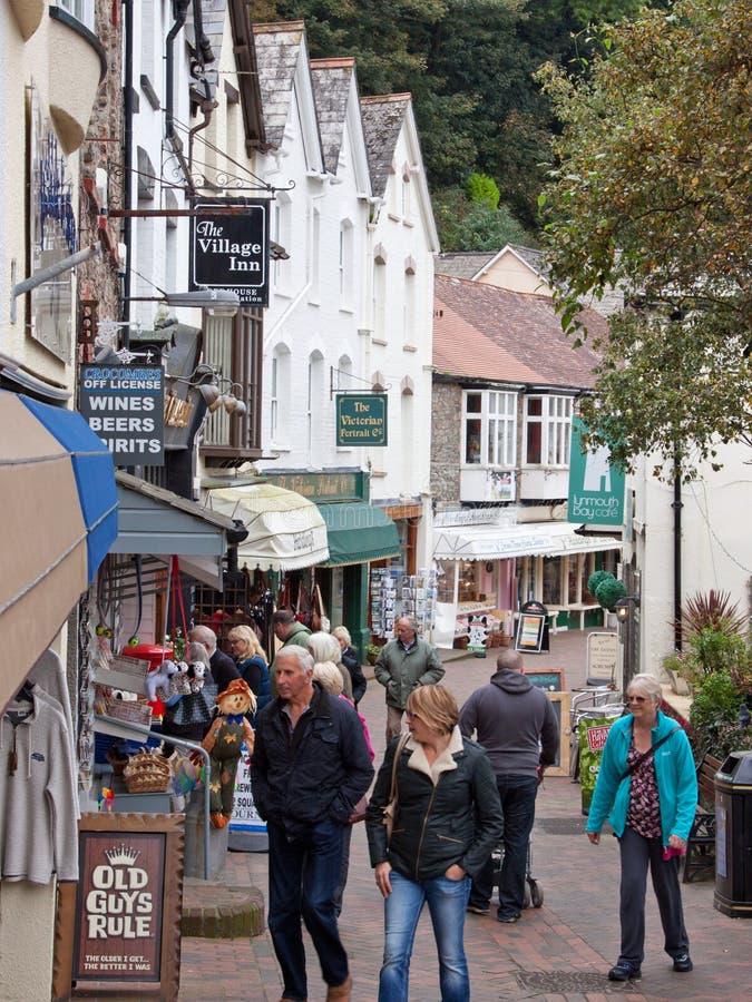 Devon Tourist Town stockfotografie