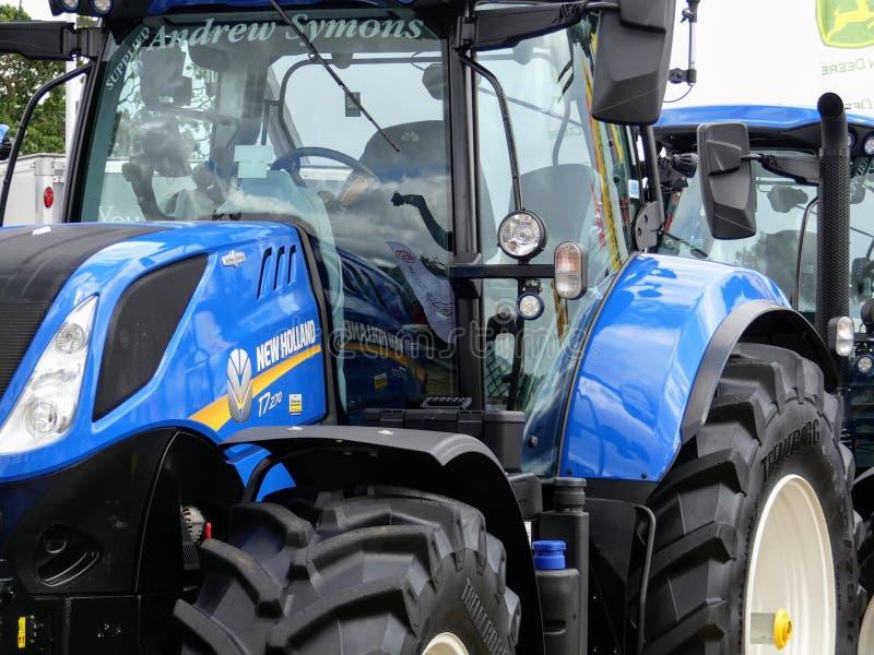 Devon UK - Juli 30 2018: Igen Holland jordbruks- medel på skärm arkivbilder
