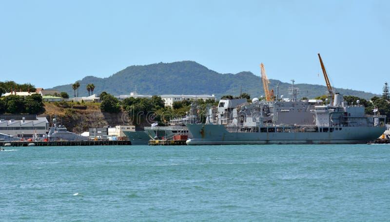 Devonport Naval Base Auckland New Zealand royalty free stock photo