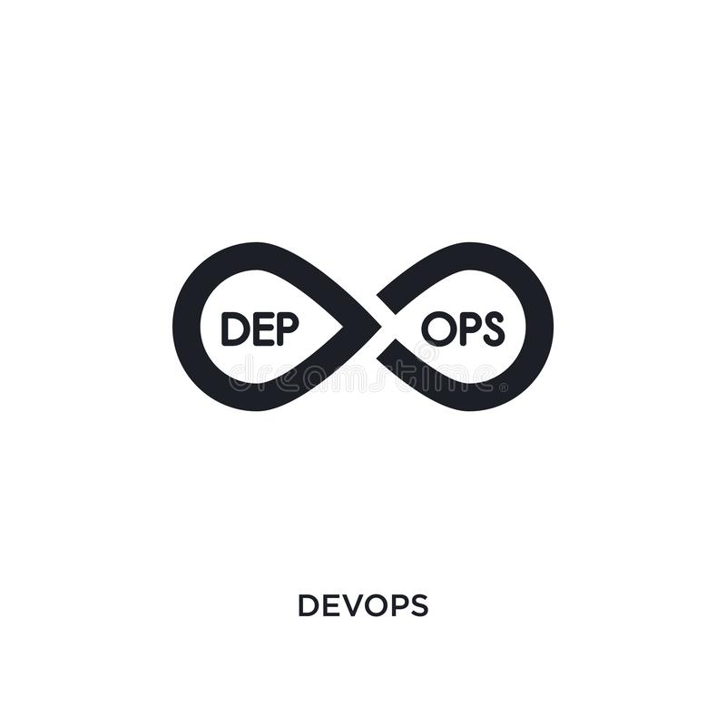 devops odosobniona ikona prosta element ilustracja od technologii pojęcia ikon devops logo znaka symbolu editable projekt na biel ilustracja wektor