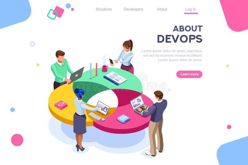 DevOpsprogrammeur User Administrator Concept royalty-vrije illustratie