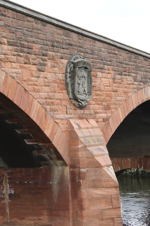 Devorgilla桥梁,邓弗里斯苏格兰英国 免版税库存图片
