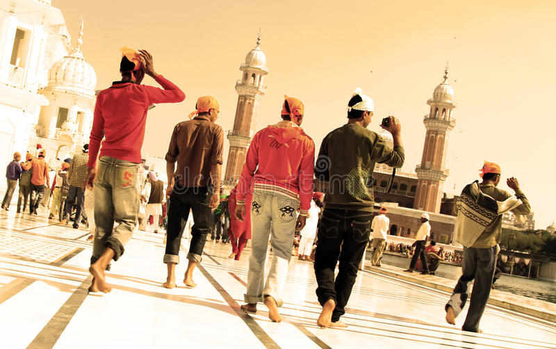 Devotees at golden temple stock photography