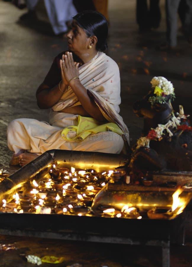 Devoto al tempiale Madura di Menakshi immagine stock libera da diritti