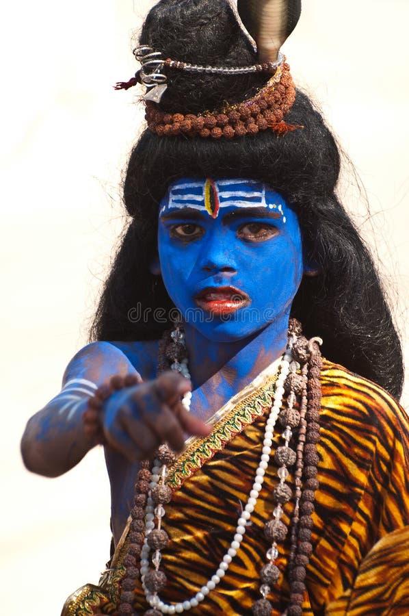 Devoto del signore Shiva fotografie stock libere da diritti