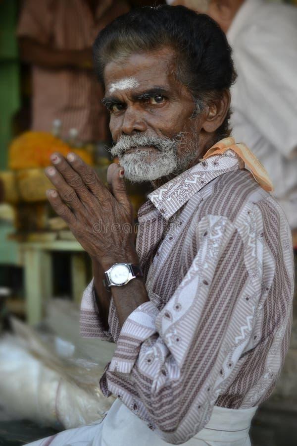 Devoto do templo em Madurai, Chennai fotos de stock royalty free