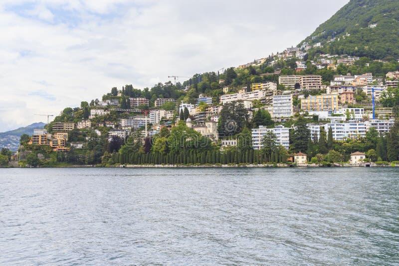 Devrlopment moderne de Lugano photographie stock