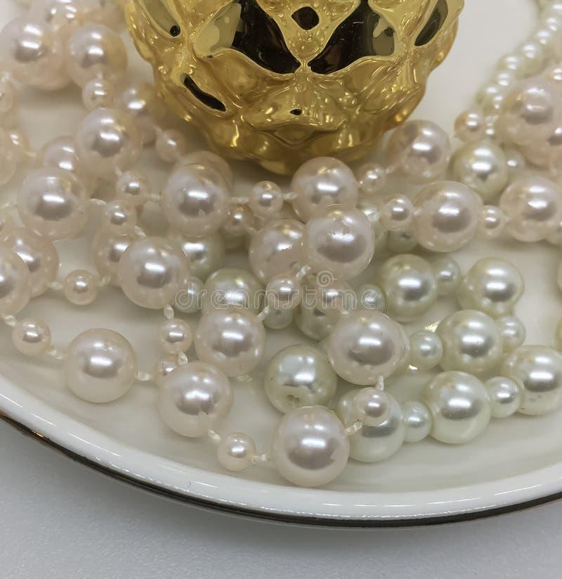dew morning necklace pearl web στοκ φωτογραφία