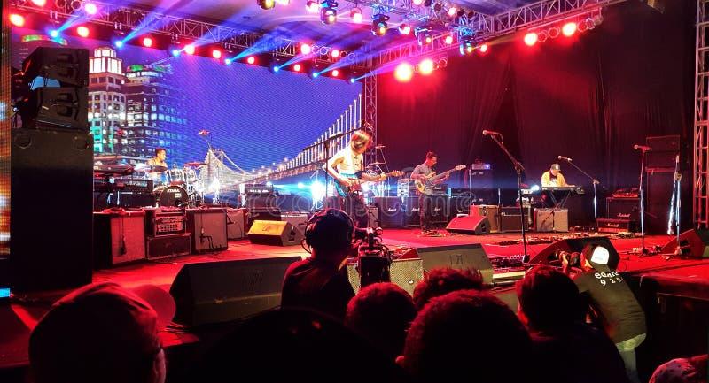 Dewa Budjana. Balinese guitarist Dewa Budjana performing at Superguitarist Event in Bandung, Indonesia 2015 stock image