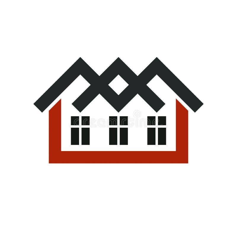 Deweloper elegancka ikona, nieruchomości agenci korporacyjny symbol royalty ilustracja