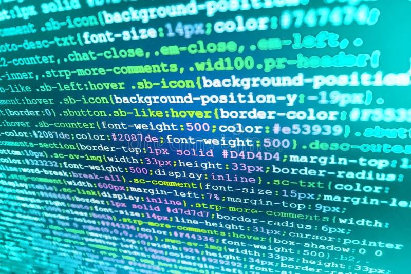 Deweloperu oprogramowania workspace ekran obrazy royalty free
