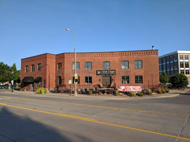Dewitt Designs. Building in Sioux Falls, SD stock photography