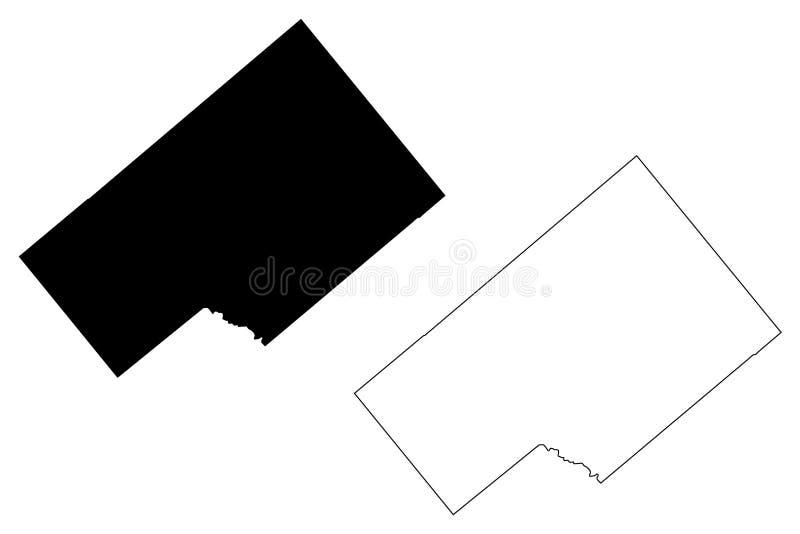 DeWitt okręg administracyjny, Teksas okręgi administracyjni w Teksas, Stany Zjednoczone Ameryka, usa, U S , USA mapy wektorowa il ilustracja wektor