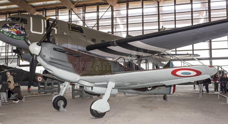 Dewoitine D 520- Combattant français du deuxième monde War1940 dedans photo libre de droits