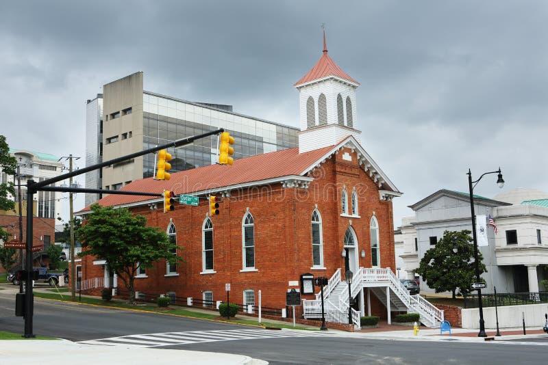 Dexter alei królewiątka Pamiątkowy kościół baptystów Alabama obraz royalty free