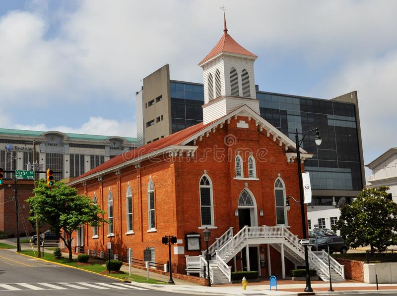 Dexter Avenue King Memorial Baptist Church. Historic landmark in the Civil Rights movement where Martin Luther King presided as the church pastor during the royalty free stock photography