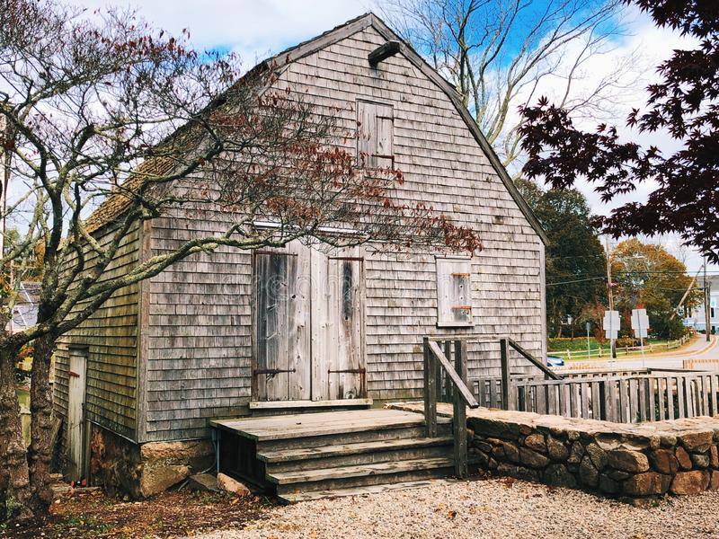 The Dexter Grist Mill in New England Sandwich. The Dexter Grist Mill the oldest mill on Cape Cod exterior located in New England Sandwich, Massachusetts, United royalty free stock images