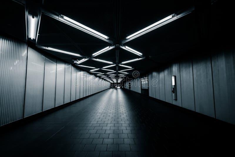 Dey Street Passageway, no Lower Manhattan, New York foto de stock royalty free