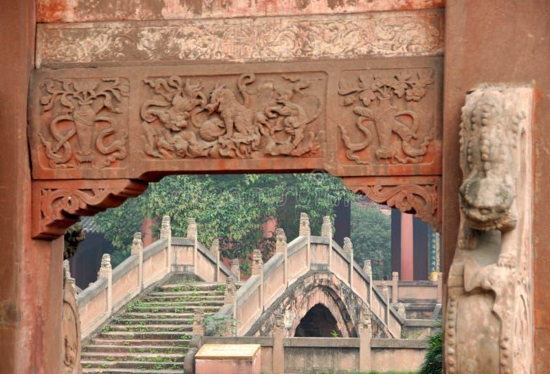Deyang, China: De Confuciaanse Tempel van Deyang royalty-vrije stock foto's