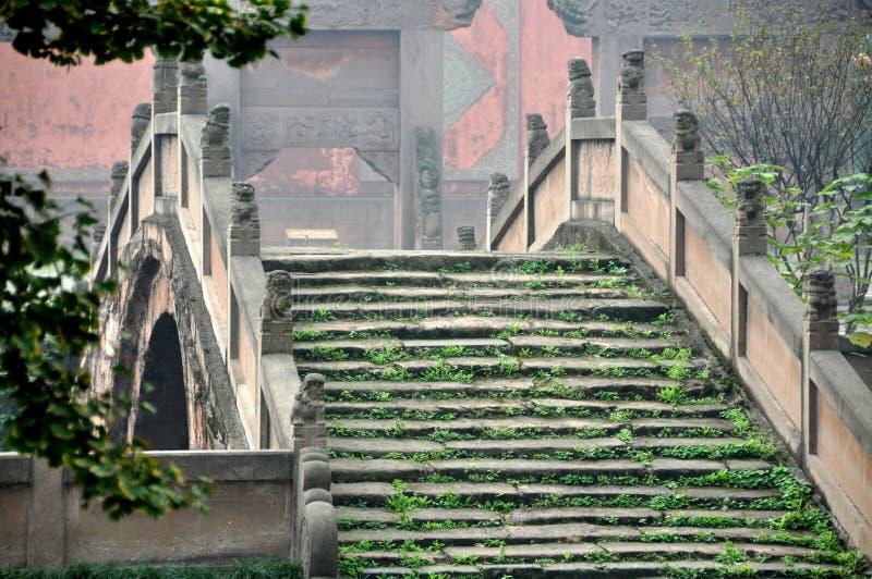 Deyang, China: Pan Brug bij Confuciaanse Tempel royalty-vrije stock afbeeldingen