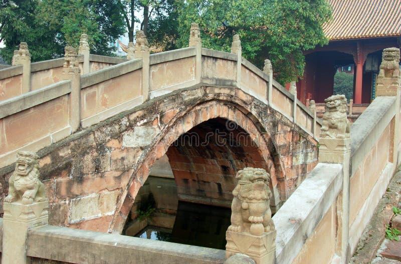 Deyang, China: Pan Brug bij Confuciaanse Tempel stock foto