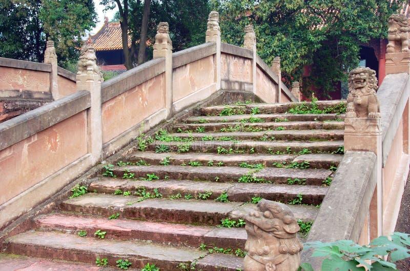 Deyang, China: Pan Brug bij Confuciaanse Tempel royalty-vrije stock foto's