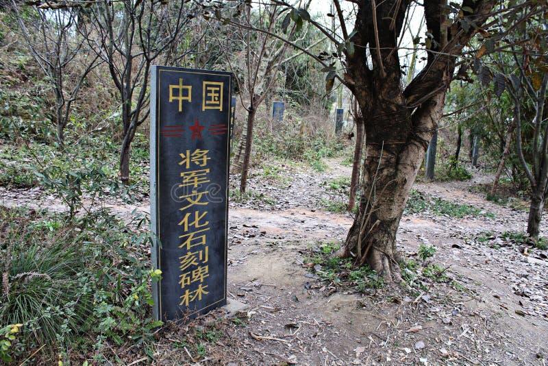 Deyang, Sichuan algemeen China, stonecutting een grote inzameling van oude gedenkstenen royalty-vrije stock foto