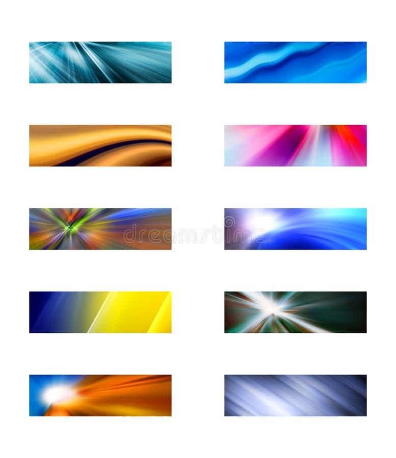Dez fundos retangulares abstratos ilustração do vetor