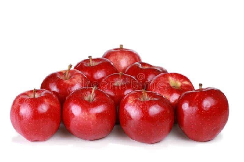 Dez maçãs da gala imagem de stock royalty free