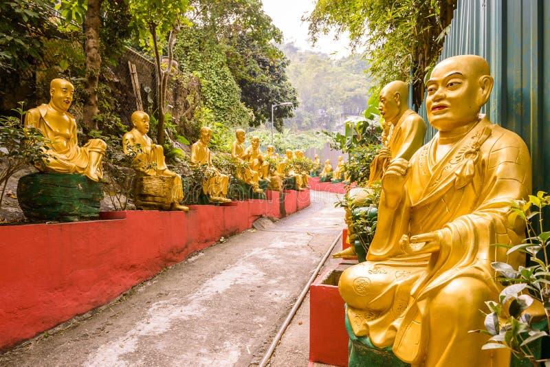 Dez mil monastérios dos buddhas imagens de stock