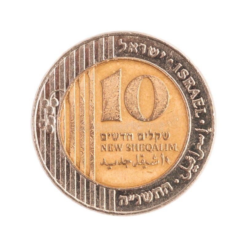 Dez Sheqels novo israelita imagens de stock royalty free