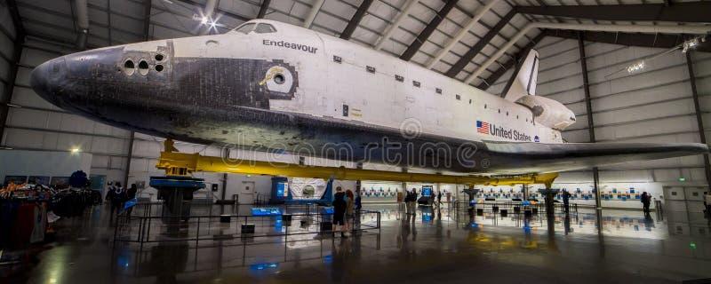 10. DEZEMBER 2018 LOS ANGELES, CA, USA - Raumfähre-Bemühung auf Anzeige in der Kalifornien-Wissenschafts-Mitte, Los Angeles, CA lizenzfreies stockbild