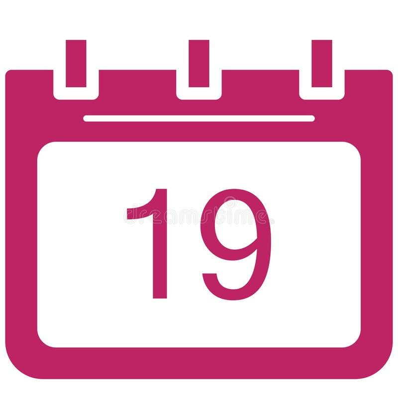 Dezenove, dezenove ícones do vetor do dia do evento especial que pode facilmente ser alterado ou editado ilustração do vetor