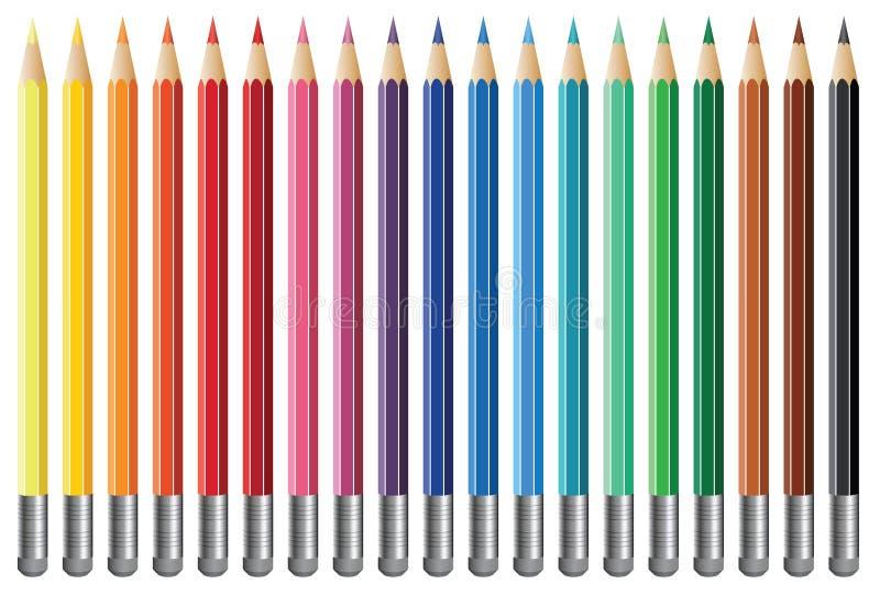 Dezenove lápis ilustração stock