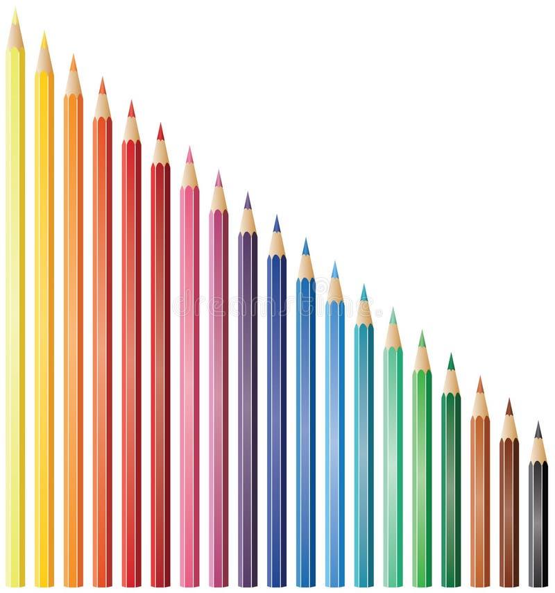 Dezenove lápis ilustração do vetor