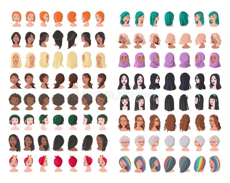 Dezesseis caráteres das subculturas diferentes e dos estratos sociais ilustração stock
