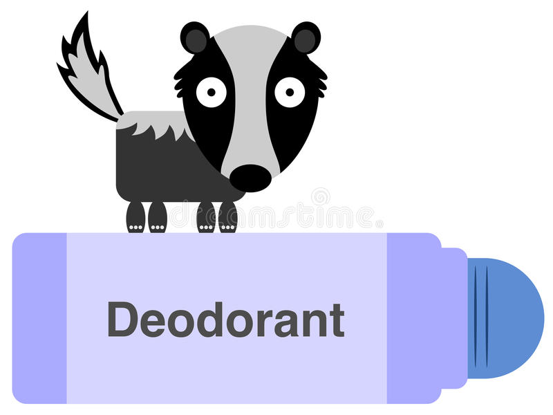 Dezodorant royalty ilustracja