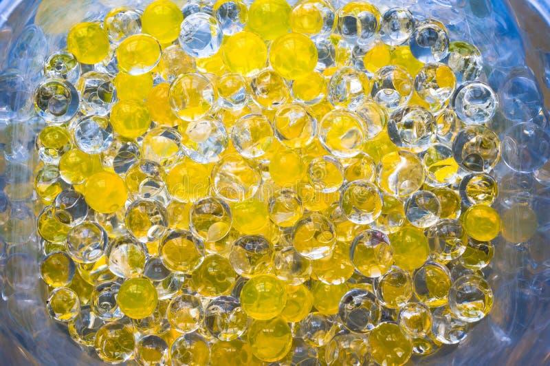 Dezodoranta gel żółta wodna sfera fotografia royalty free